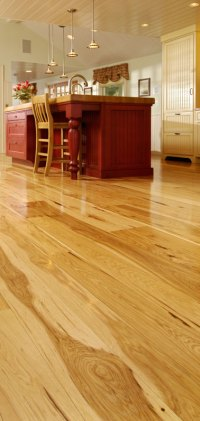 Wide Plank Hickory Flooring - Natures toughest wood, by ...