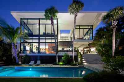 Traditional Street Facade Hides Modernist Home on Miami Lake