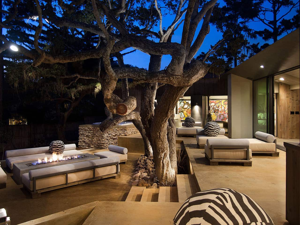 Terrasse Lounge Updated Mid Century Home With Private 2 Tier Courtyard