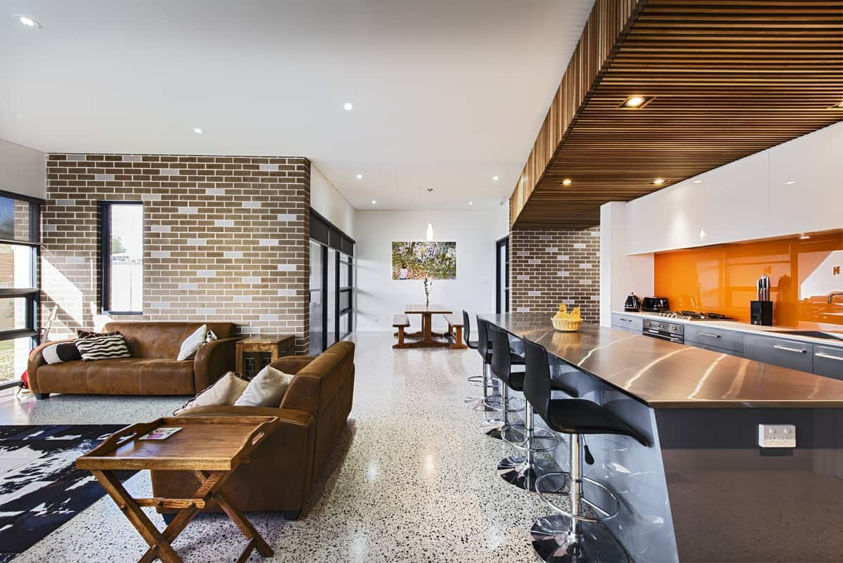 3d Brick Wallpaper Philippines House Decorated In Brick Veneer Inside And Out