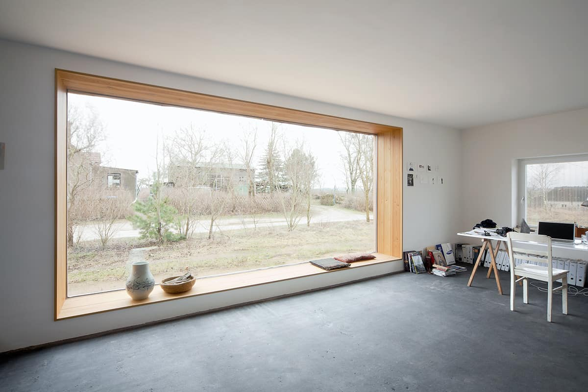 Vensterbank Zitje House With Built In Window Nook And Interior Fire Pit