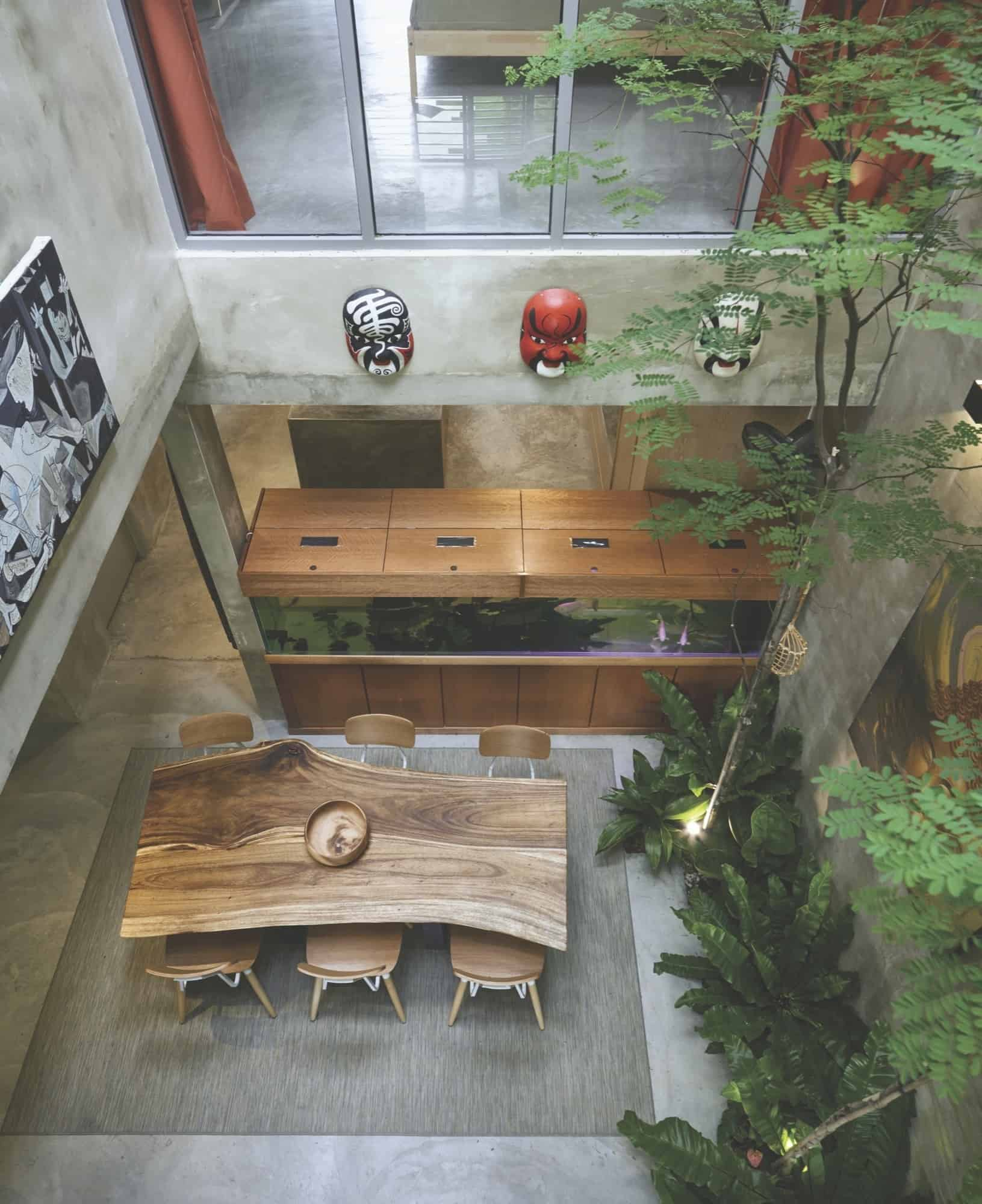 Arbre D Intérieur Salon Trees And Shrubs Create Faux Courtyard Inside House