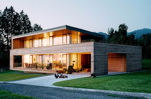 Austrian Wooden Houses Timber Clad Inside And Out - Holzhaus Design