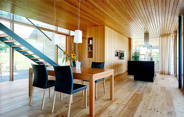 Fireplace Room Divider Austrian Wooden Houses: Timber-clad, Inside And Out