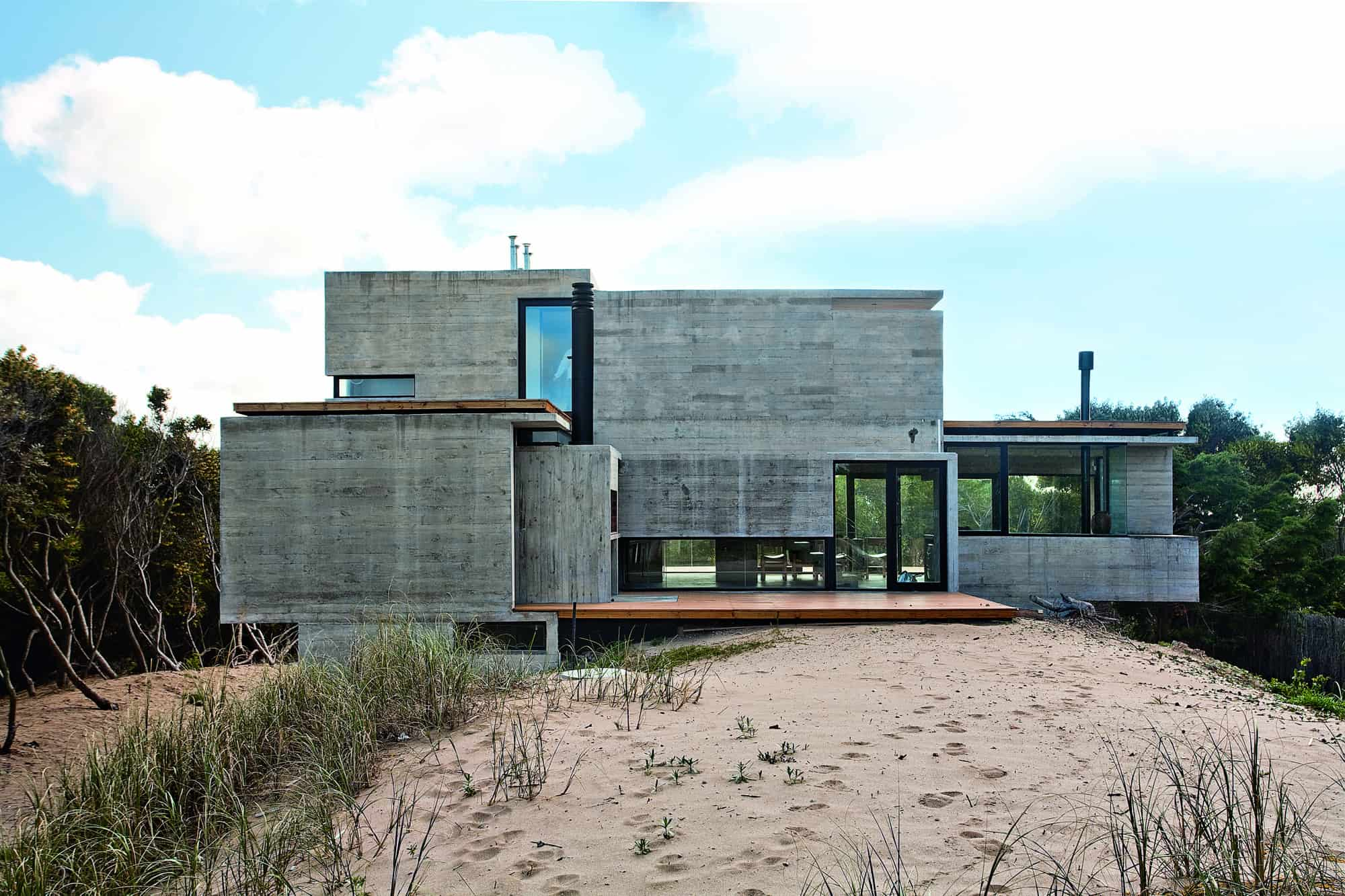 Modern Concrete House Bare Concrete Beach House