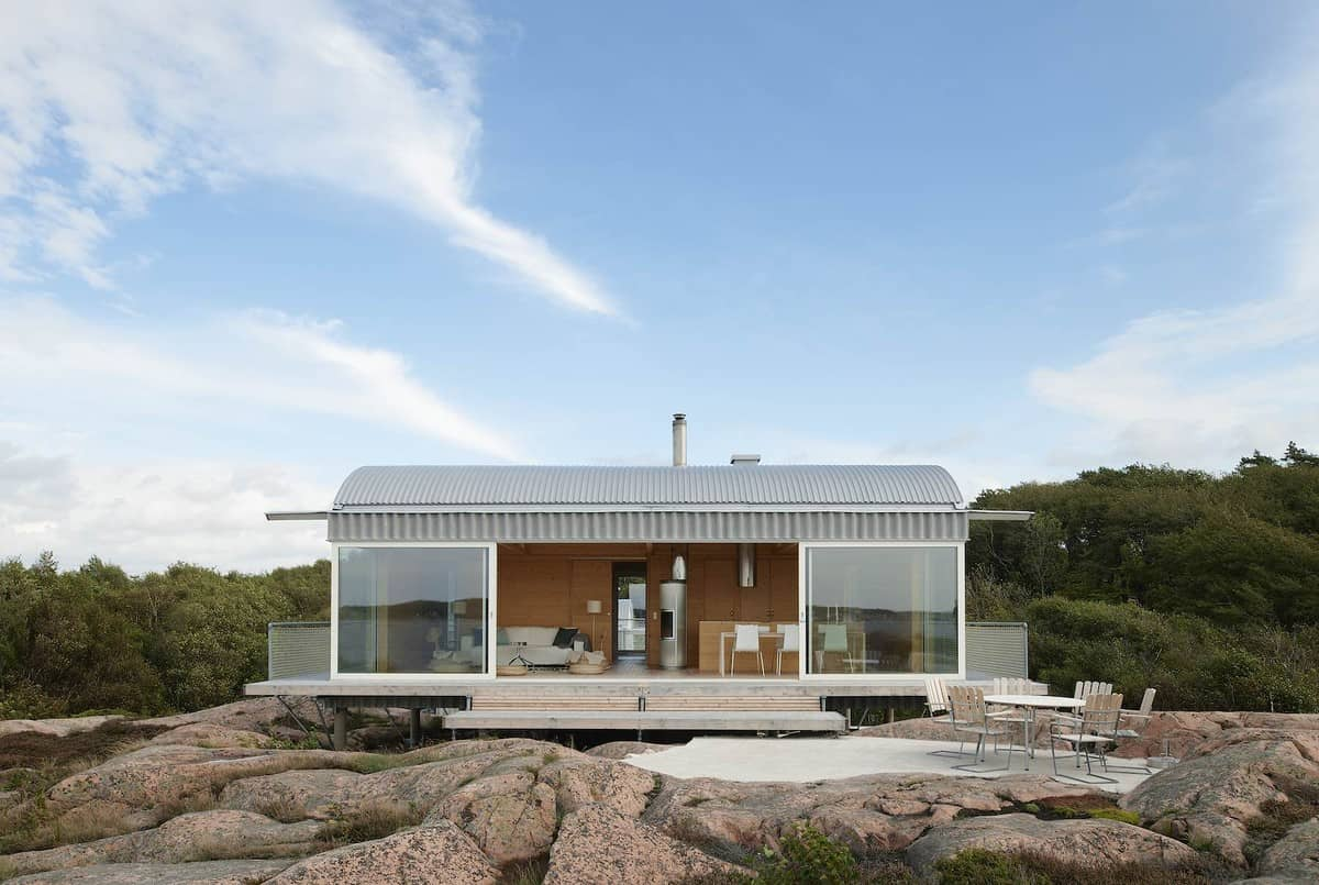Scandinavia House Plans Corrugated Metal Beach Houses With Wood Interiors
