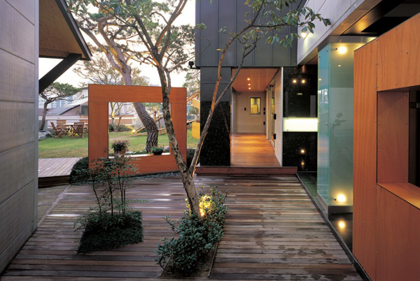 Spa Exterieur Oasis Courtyard House Designs - Urban Home With Natural Oasis
