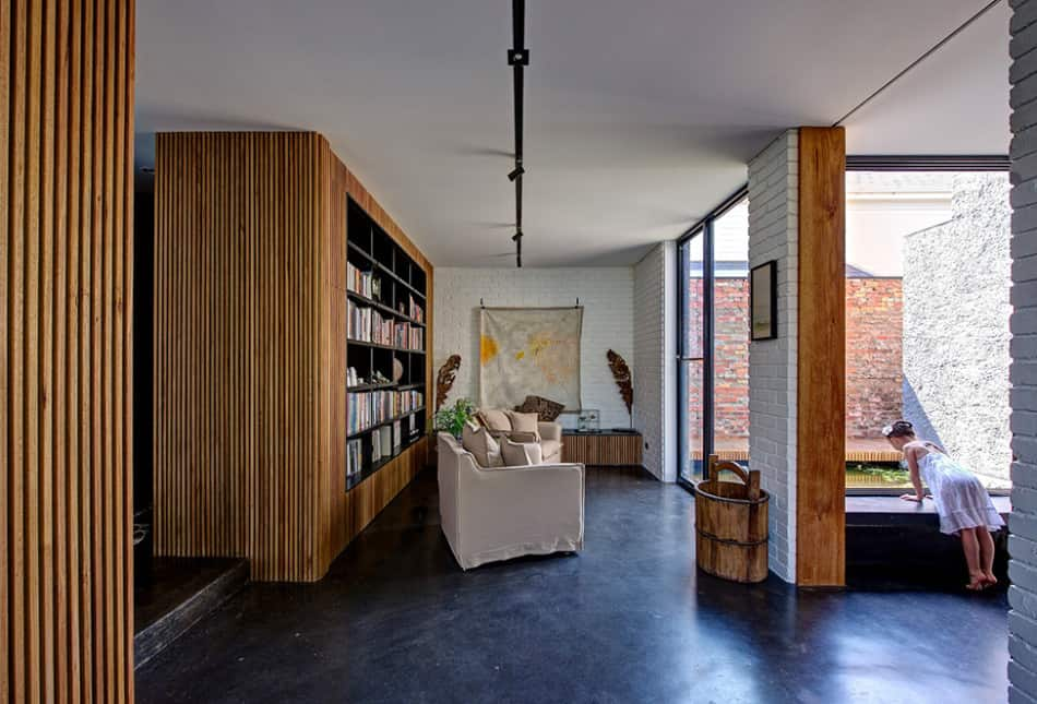 Minimalist House With Pivoting Wall And Unusual Details