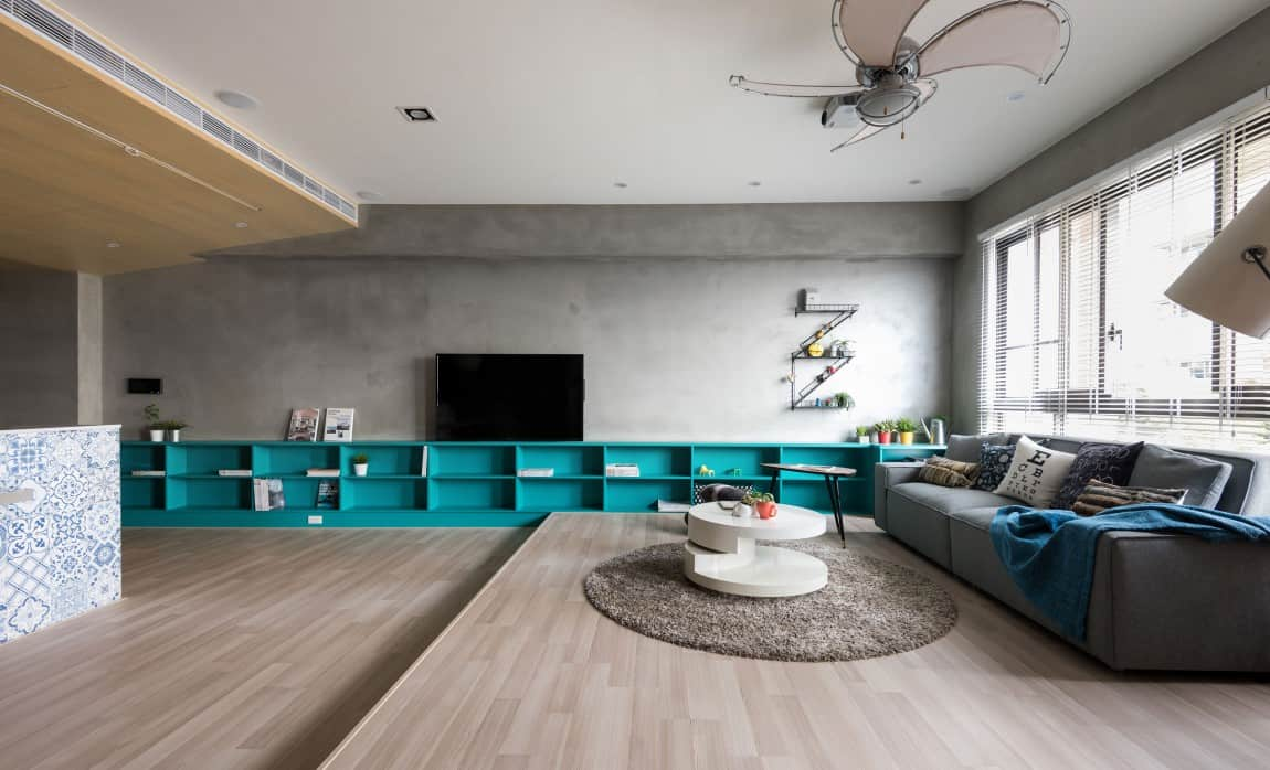 Cubit Sofa How To Define A Space With A Low Storage Wall System