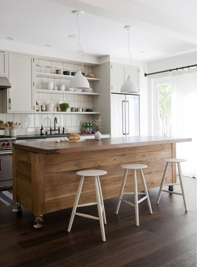Movable Kitchen Island With Stools Simo Design Puts Large Kitchen Island On Wheels