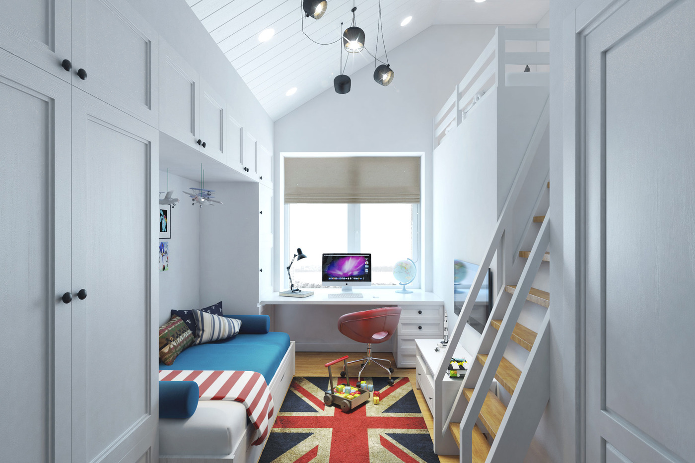 Small Space House Design Small Teenage Room Design With A Second Floor Sleeping