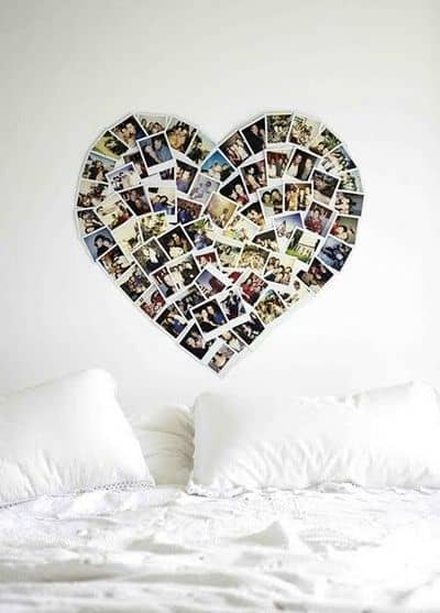 Photo Wall Collage Without Frames 17 Layout Ideas - Heart Frames For Photos