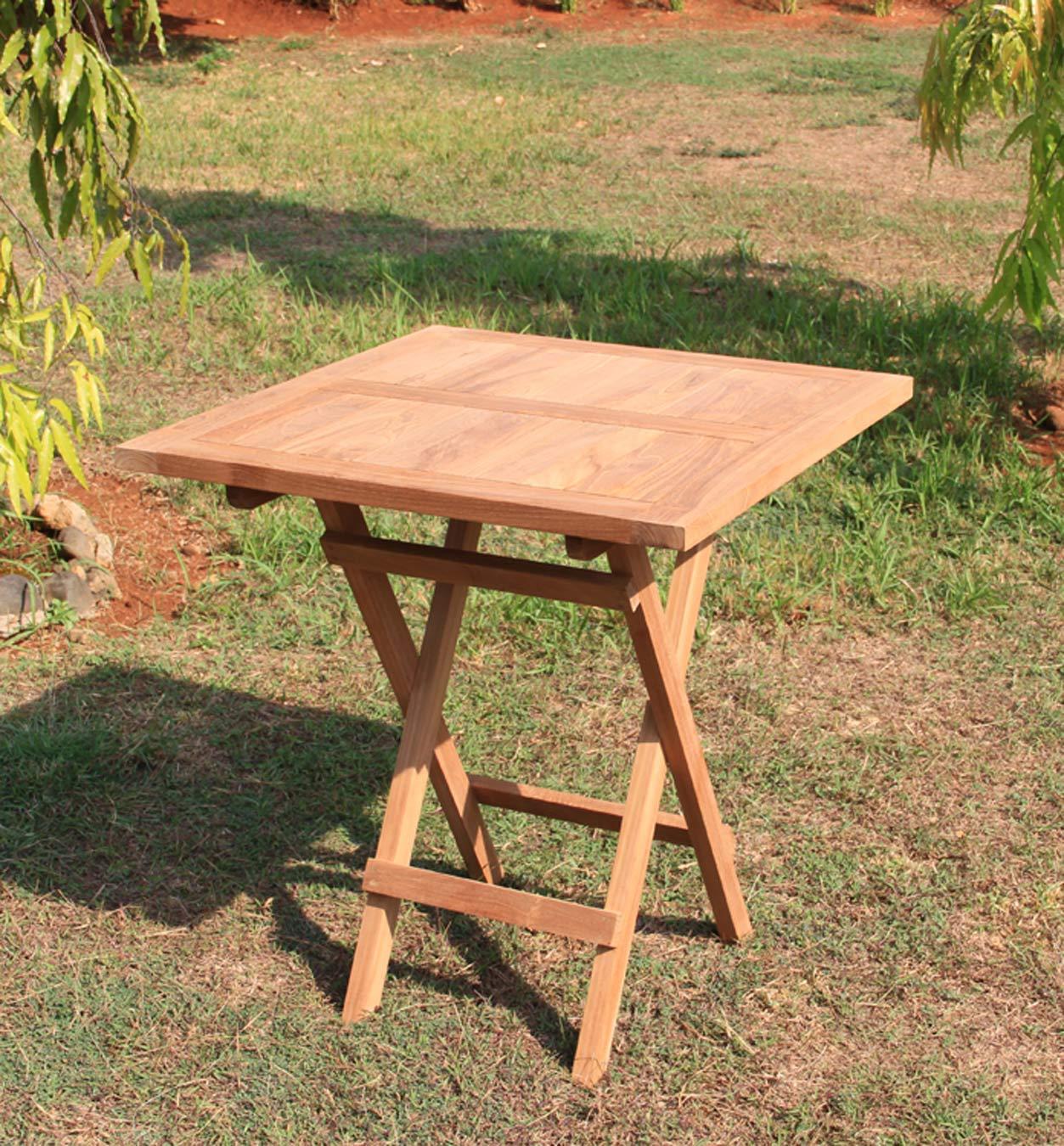 Gartentisch Holz 70x70 Gartentisch Klappbar Holz Devries Teak
