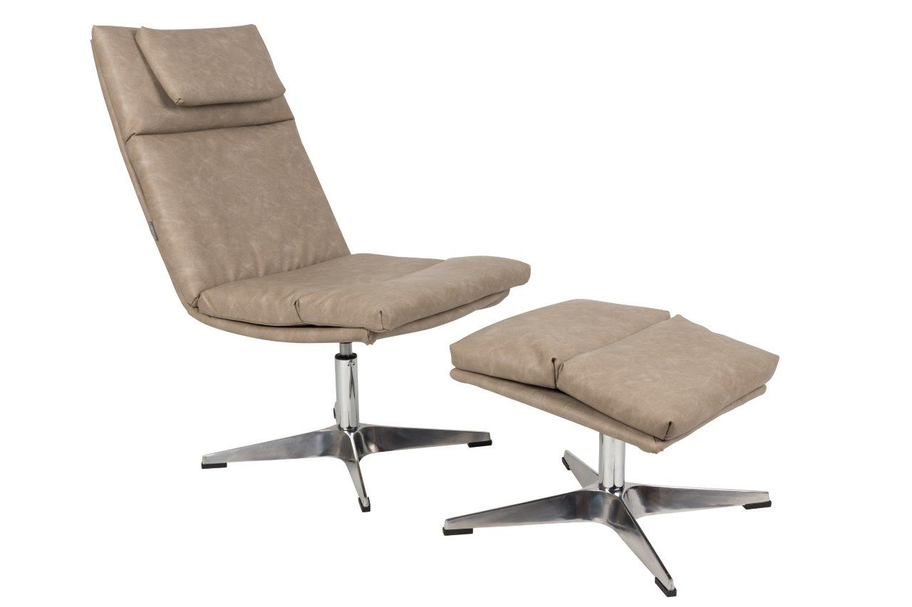 Chill Lounge Möbel Lounge Sessel Chill Mit Hocker Vintage Beige