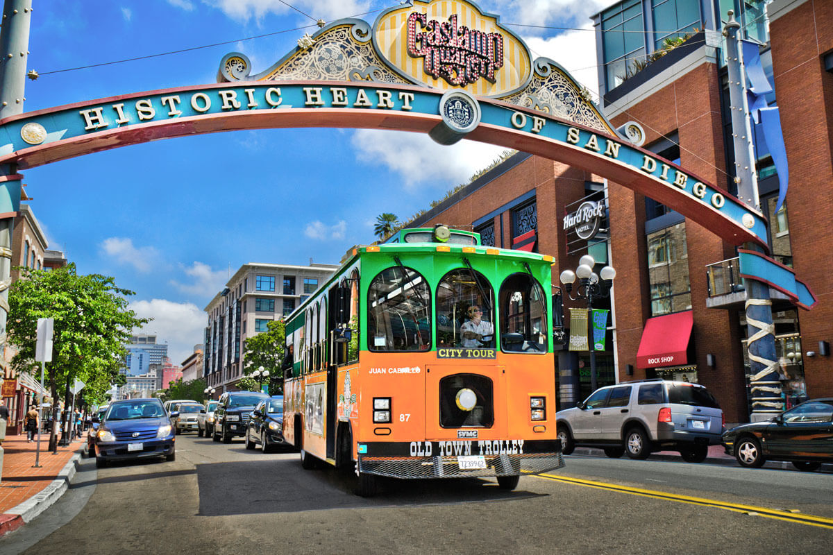 Glass Lamp District San Diego San Diego Tours By Old Town Trolley San Diego