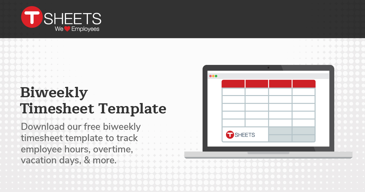 Bi-weekly Timesheet Template - Semi-Monthly Timesheet in Excel