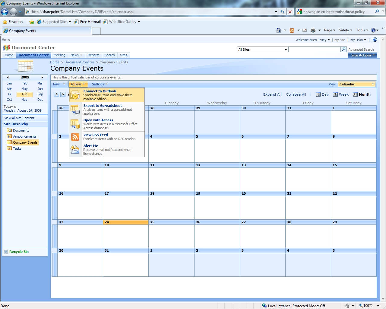How To Create A Calendar Sharepoint Update Create Office 365 Groups With Team Sites From A Behind The Scenes Look At Outlook 2007 And Sharepoint