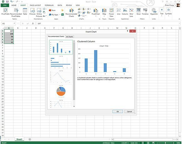 Office eases Excel 2013 chart creation - New Microsoft Office 2013 - microsoft office versions comparison chart