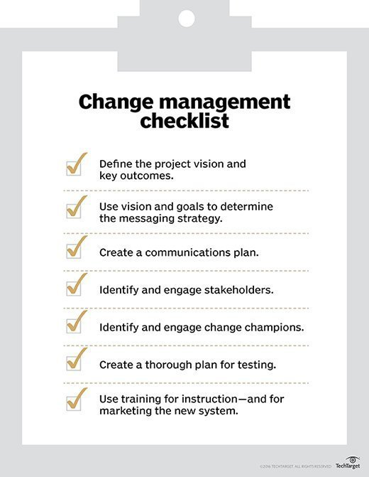 Avoid implementation failure with an effective change management plan