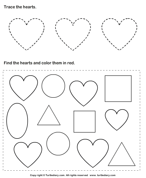 Heart Worksheets - Synhoff