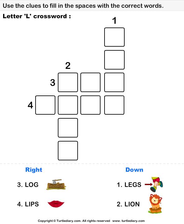 letter p crossword worksheet