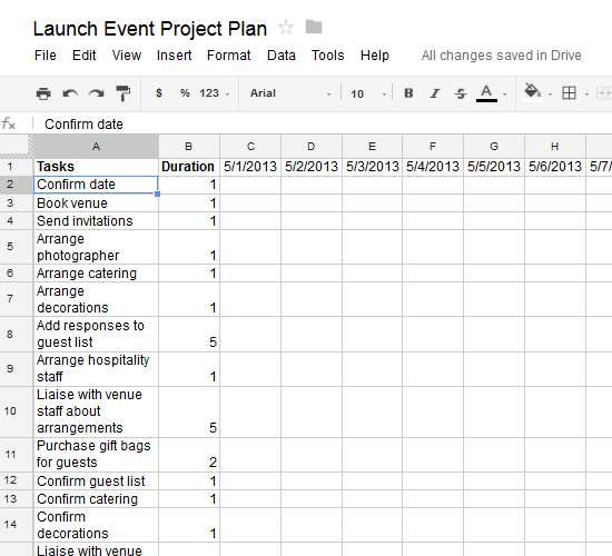 How to Create an Actionable Project Plan Using a Google Spreadsheet - project plan