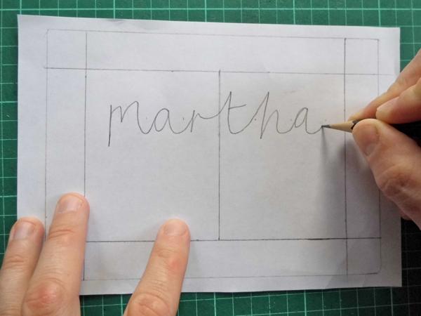 How to Make a Beautiful Papercut Bespoke Name Design - design paper for writing