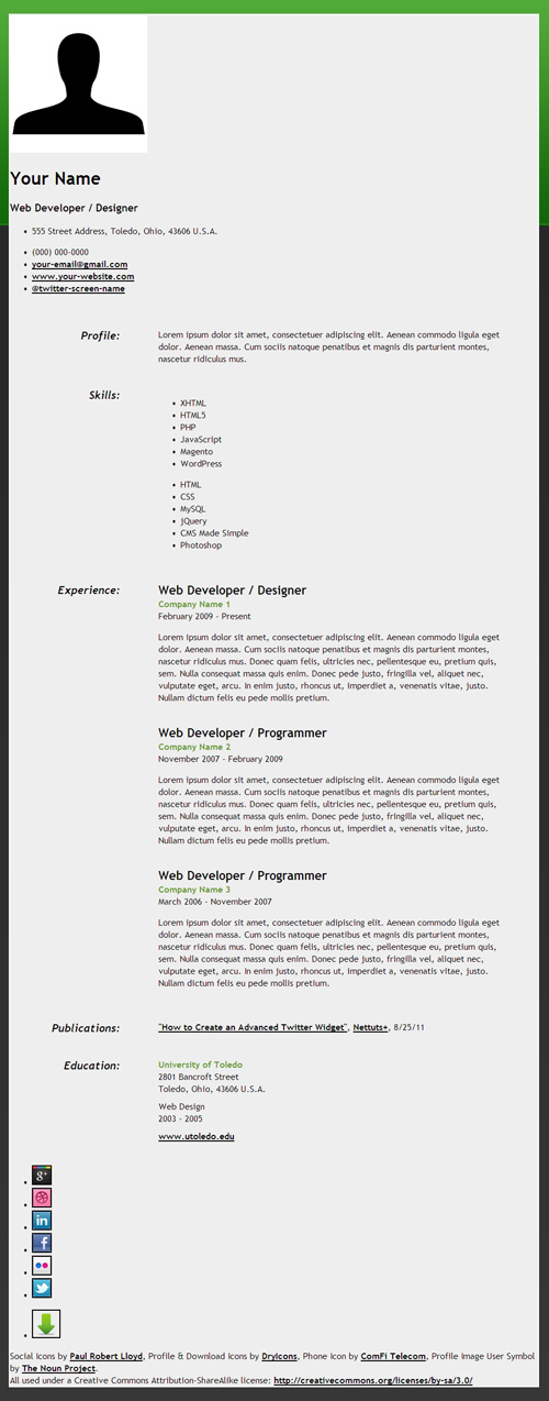 How to Create an HTML5 Microdata Powered Resume