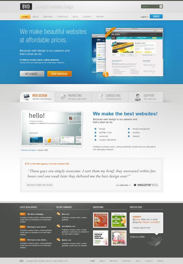 Design a Beautiful Website From Scratch - how to create a website template