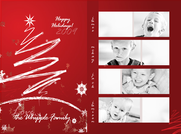 How to Design a Photo-Collage Holiday Card in Photoshop - postcard collage template