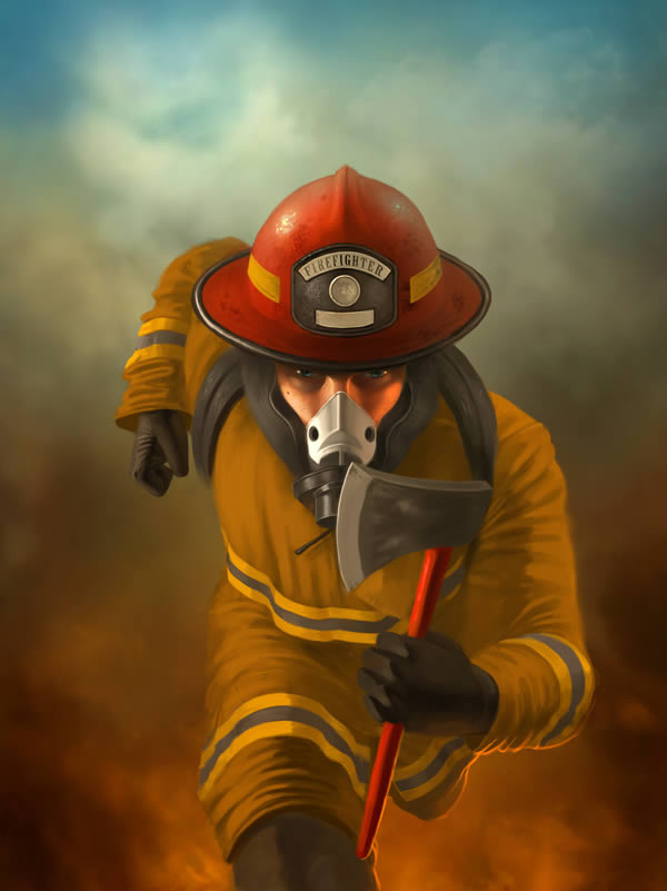 Tear Quotes Wallpaper Create A Heroic Firefighter Painting In Photoshop