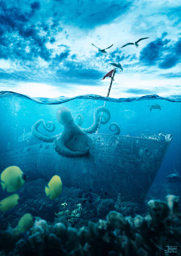 3d Couple Kissing Wallpapers Create A Realistic Underwater Scene In Photoshop