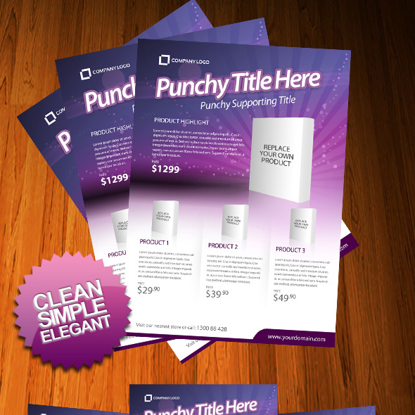 20 Outstanding GraphicRiver Flyers and Posters - product flyer