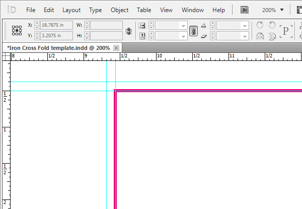 How to Create an Iron Cross Self-Mailer Template Using InDesign - tri fold mailer template