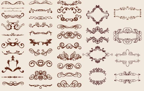 250+ Free Vintage Graphics Flourish Vector Ornaments