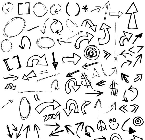 350+ Free Graphics Vector Arrow Symbols and Shapes