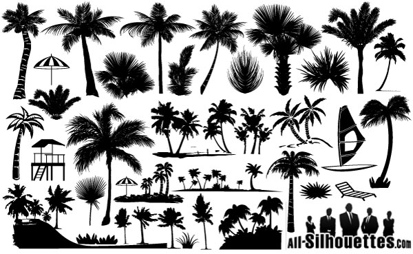 450+ Free Graphics Lush Vector Trees and Summer Leaves