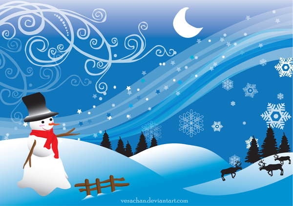 Free Fall Themed Desktop Wallpaper Winter Vector Inspiration And Snowy Resources