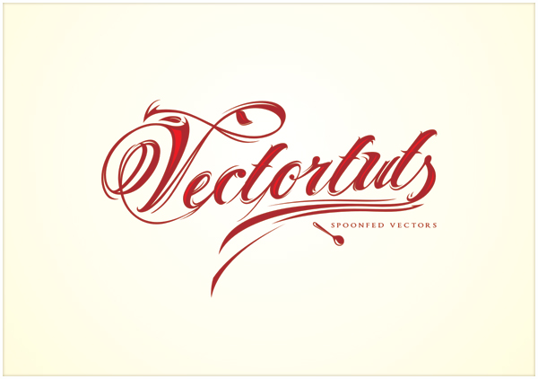 How to Add Decorative Glamour to Your Ordinary Script Font - illustrator typography tutorials