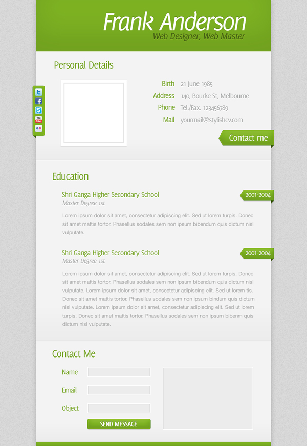 Create a Clean and Simple Résumé Website Design - web resume