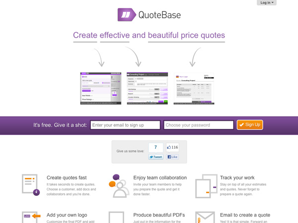 40+ Well Designed Apps for Running Your Freelance Business - web design invoice