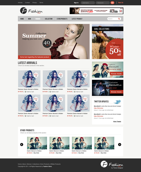 Design a Clean e-Commerce Website Interface in Photoshop