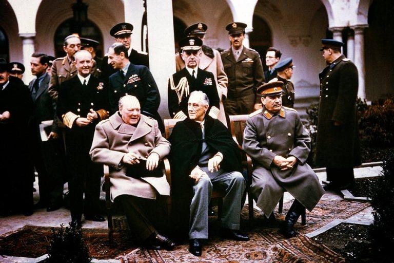 Уинстон Черчилль, Франклин Делано Рузвельт и Иосиф Сталин (слева направо). Февраль 1945 года, Ялта Фото: Global Look Press