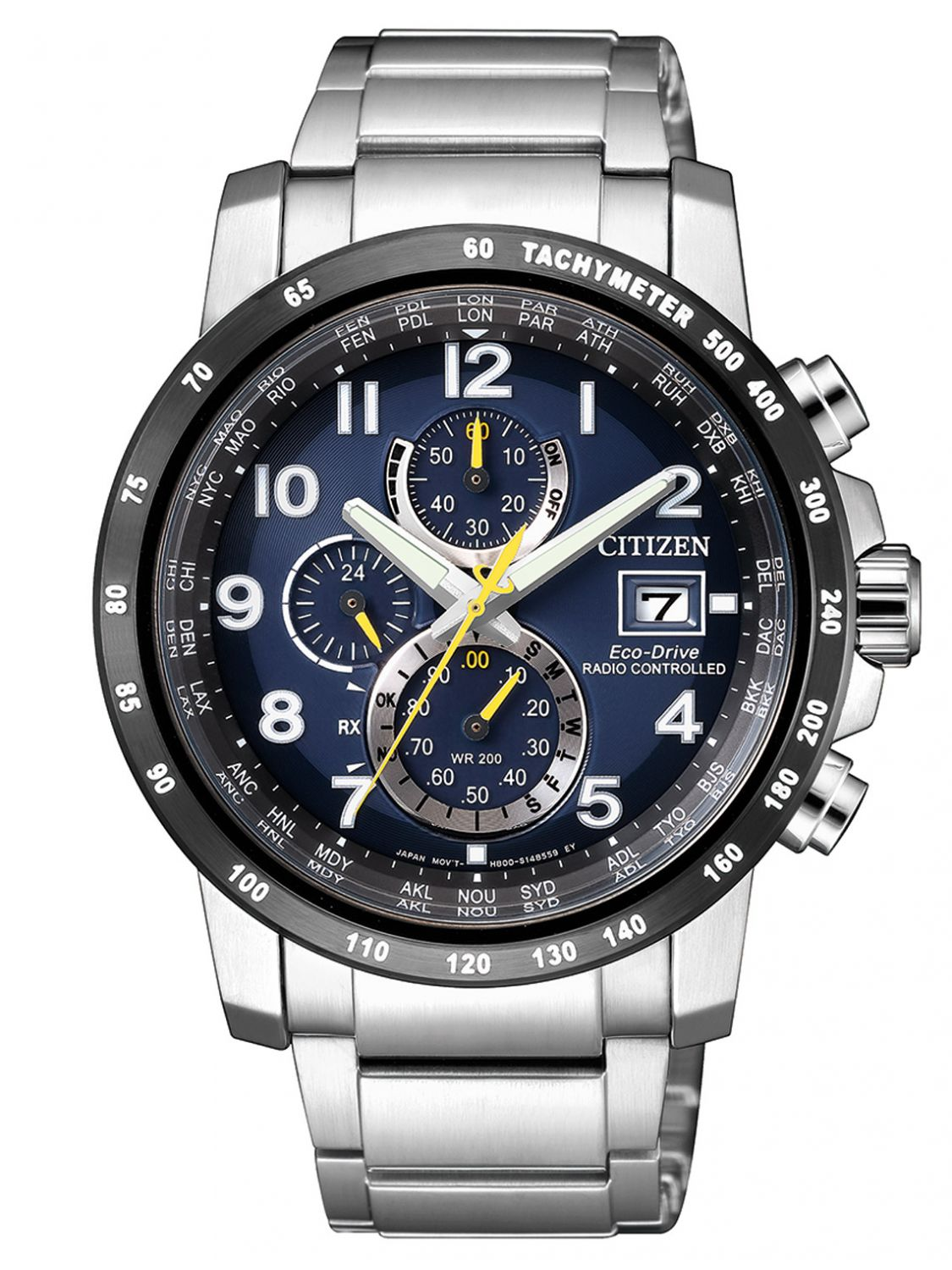 Citizen Funkuhr Citizen At8124 91l Eco Drive Chronograph Mens Radio Controlled Watch