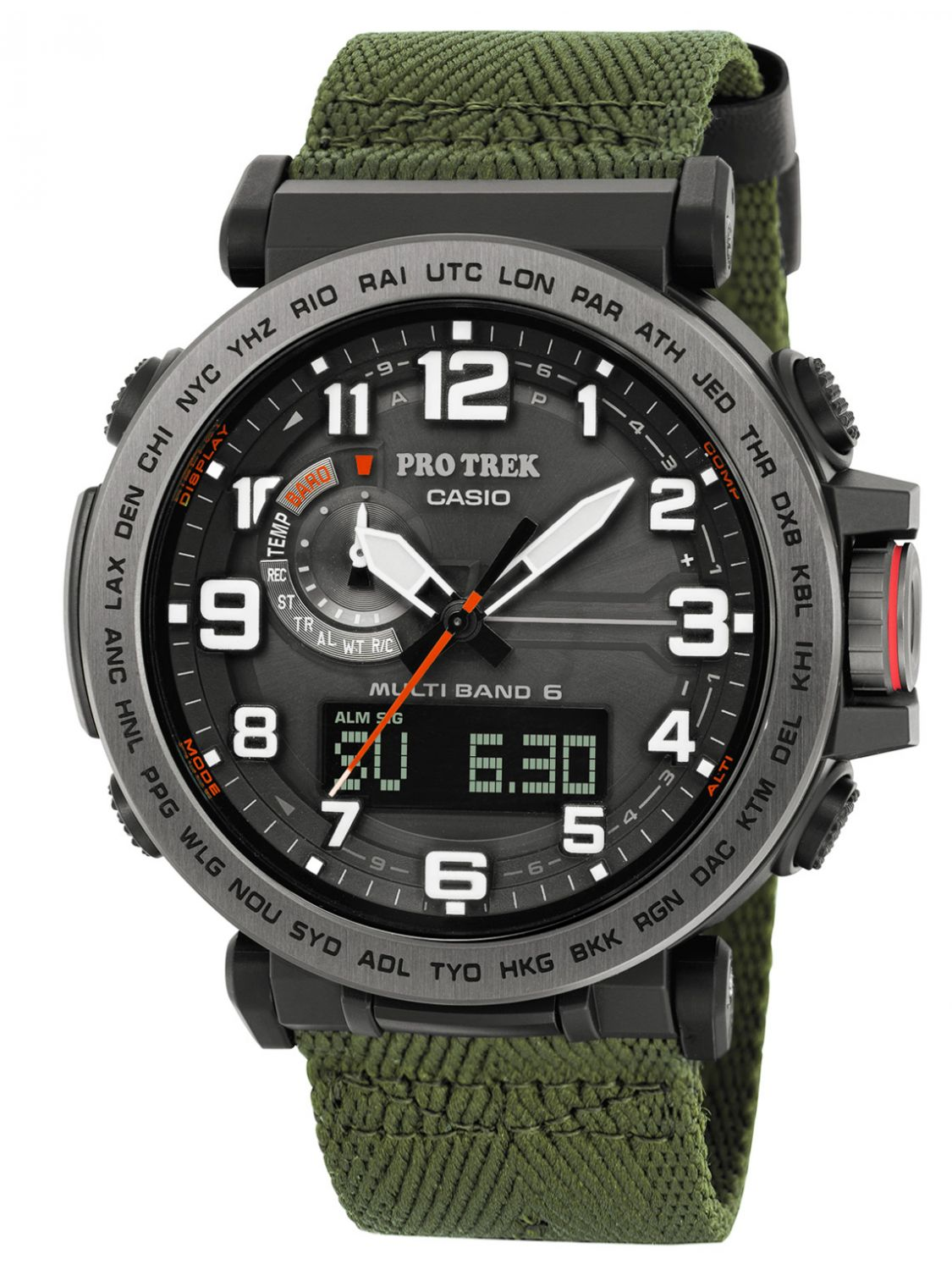 Digitale Uhren Casio Pro Trek Outdoor Solar Radio Watch Monte Tamaro Prw