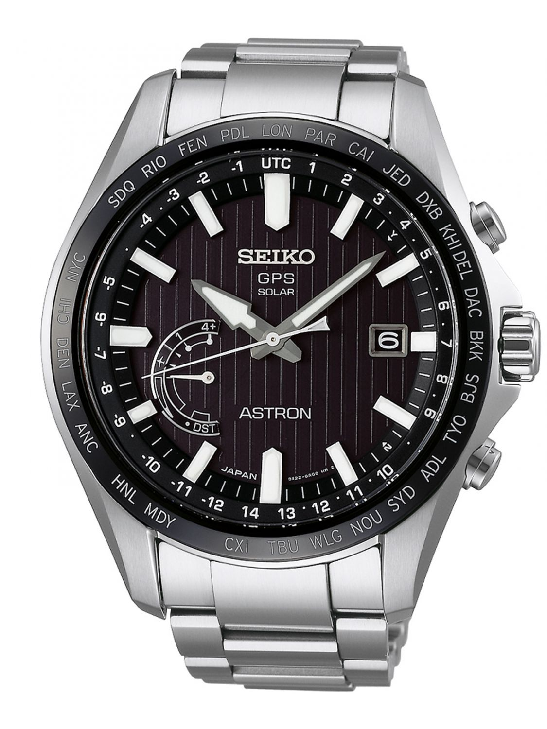 Seiko Astron Seiko Sse161j1 Astron Gps Solar World Time Mens Watch