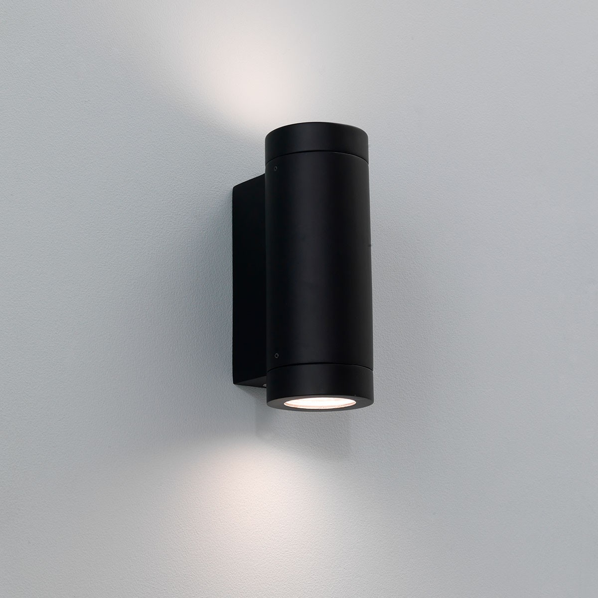 Luminaire Exterieur Up And Down Astro Porto Plus Twin Black Outdoor Wall Light At Uk
