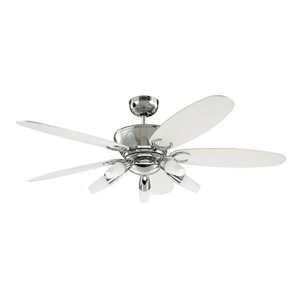 Plafondlamp Met Ventilator Westinghouse Arius 52 Inch Chrome Ceiling Fan With Black