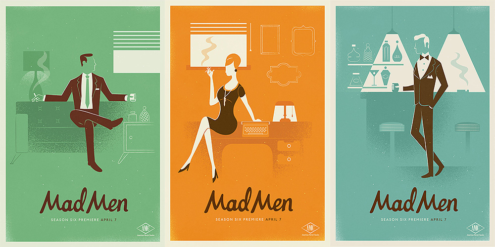 Design 1960s Inspired Mad Men Posters Ultra Swank