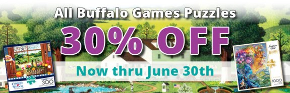 Buffalo Games Puzzles All 30% Off